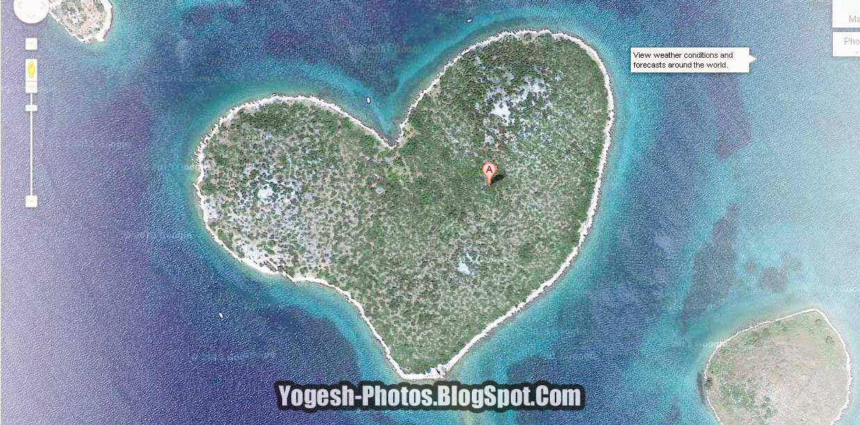 Photos heart shaped galenjak island croatia google map heart shaped galenjak island croatia google map gumiabroncs Images