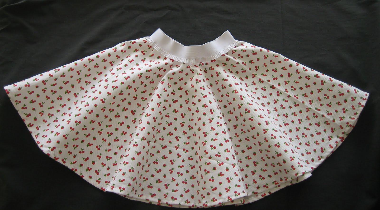 Les canettes de sylvie une jupe qui tourne - Patron jupe elastique fille ...