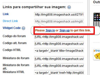 solução erro domain unregistered imageshack