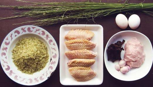 Cách làm món Cánh gà bọc cốm chiên ngon