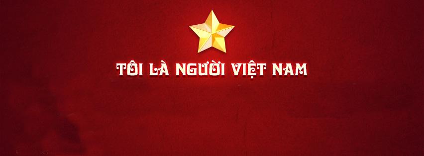 """Ảnh bìa có chữ """"Tôi là người Việt Nam"""""""