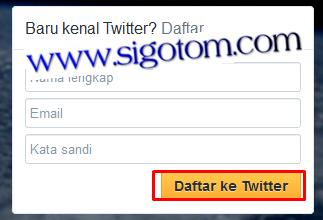 Twitter: Cara membuat/mendaftar Twitter
