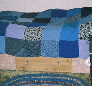 ice blue quilt
