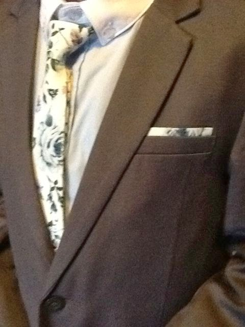 close up of tie and breast pocket