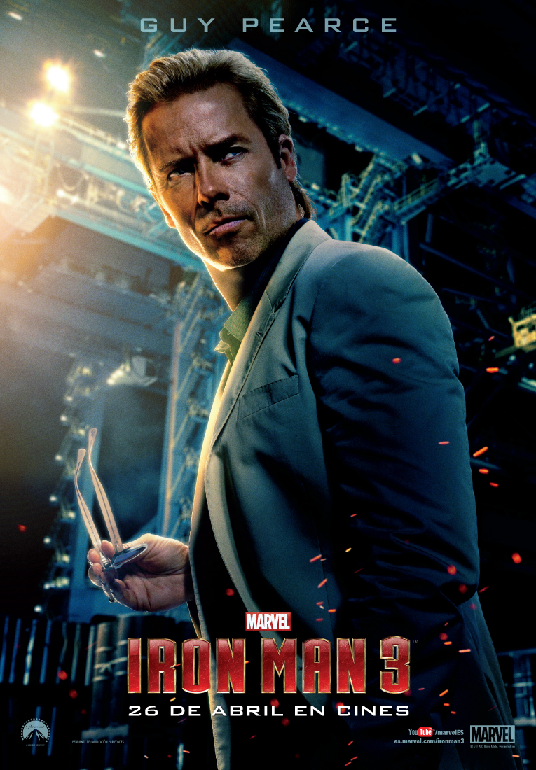 Guy Pearce interpreta a Aldrich Killian en Iron Man 3