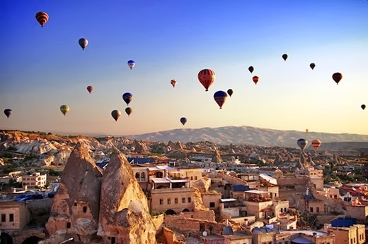 10 places to honeymoon for the year 2014 Cappadocia, Turkey
