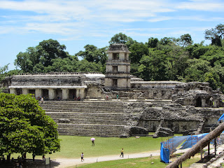 View of El Palacio at Palenque in Mexico