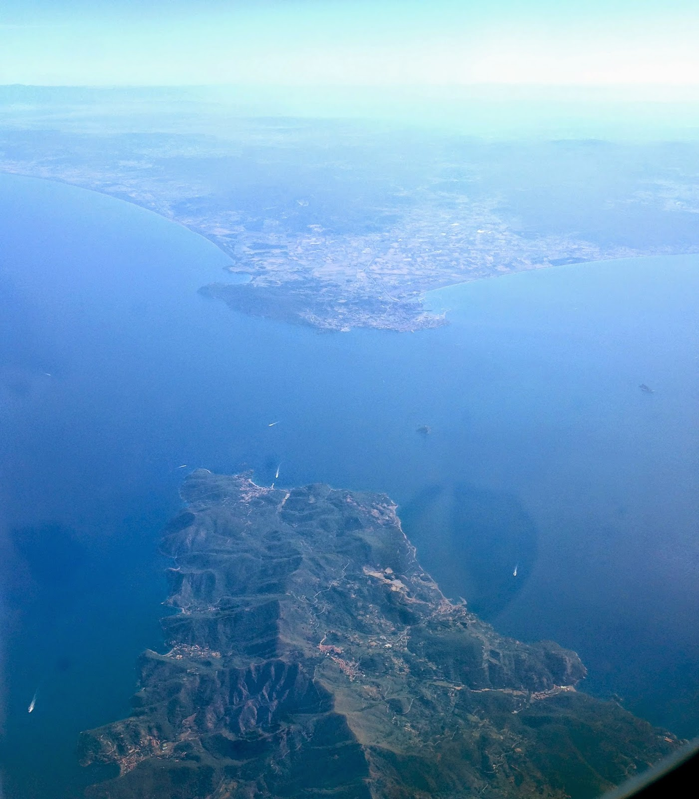 View of Italy from plane