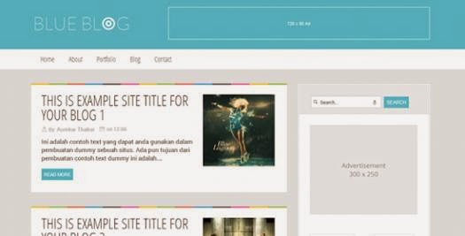 BlueBlog – Blogger Templates-bwtemplate