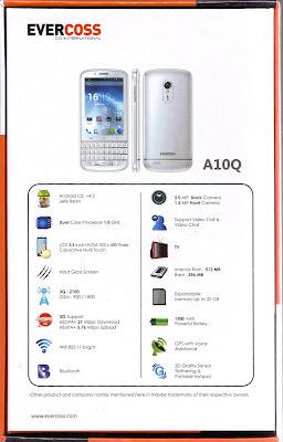 Harga dan Spesifikasi Evercoss A10Q, Smartphone Android QWERTY Murah
