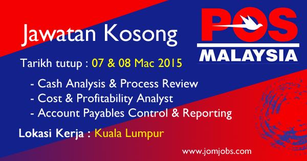 Jawatan Kosong POS Malaysia Mac 2015