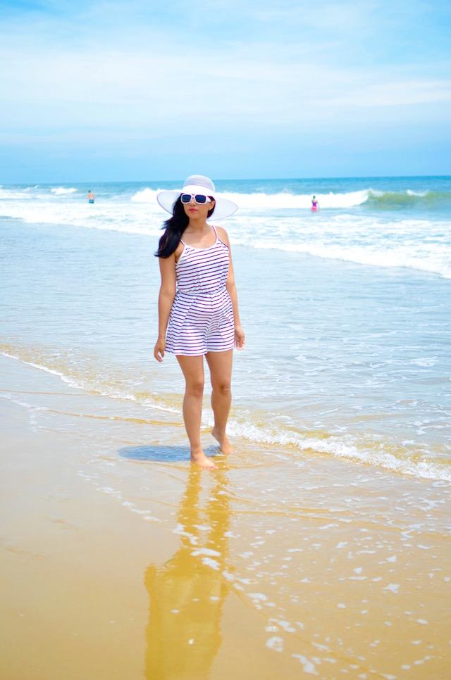 Choies jumpsuit-white and black- mariestilo