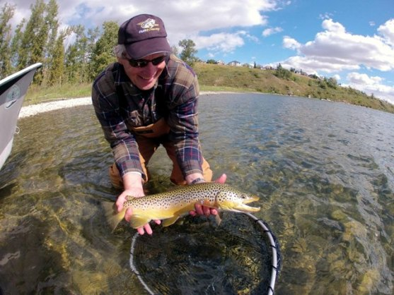 Bow river shuttles bow river fishing report sept 13 for Richard bowling fishing report