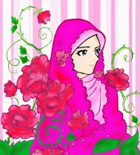 Wanita muslimah berhijab sedih