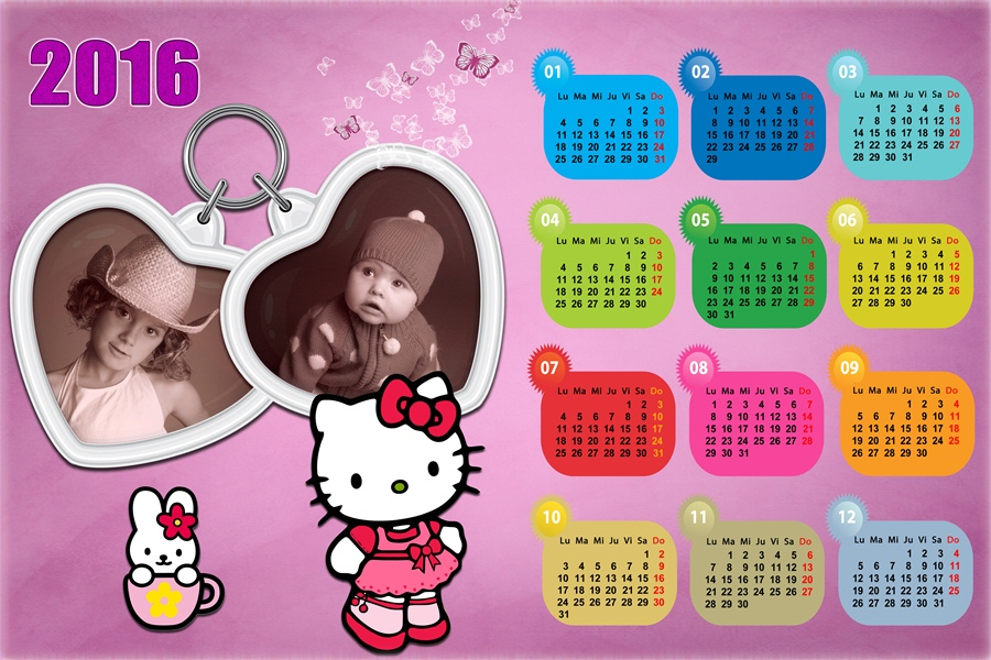2015 Calendar Printable Hello Kitty