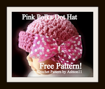 Free Crochet Pattern Downloads: Pink Polka Dot Hat - Free ...