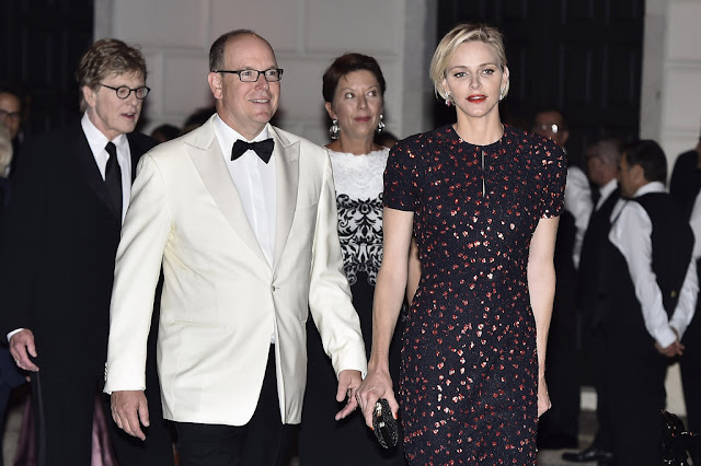 Prince Albert and Princess Charlene at Princess Grace Awards 2015