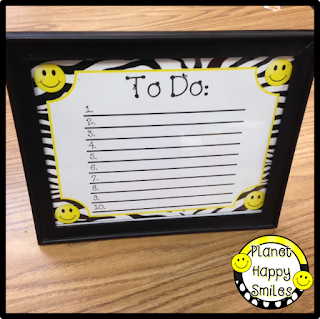Dry Erase Frame, Planet Happy Smiles