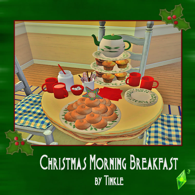 My Sims 3 Blog: Christmas Morning Breakfast By Tinkle