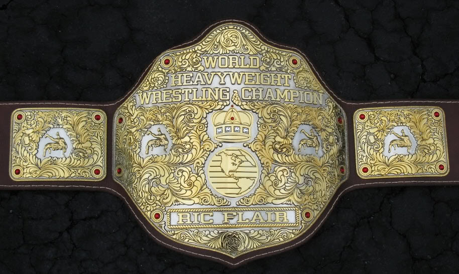 Big Gold WCW WWE World Heavyweight Championship Belt Ric Flair