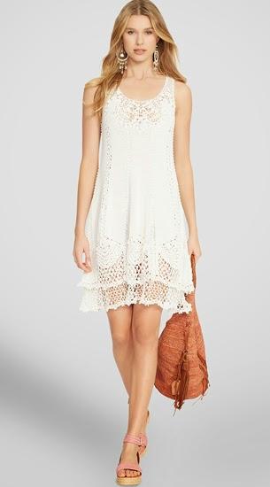 vestido blanco crochet Polo Ralph Lauren El Corte Inglés verano