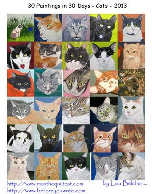 Commissioned Cat Art -- Want your cat painted. Learn More -- Click on the poster!