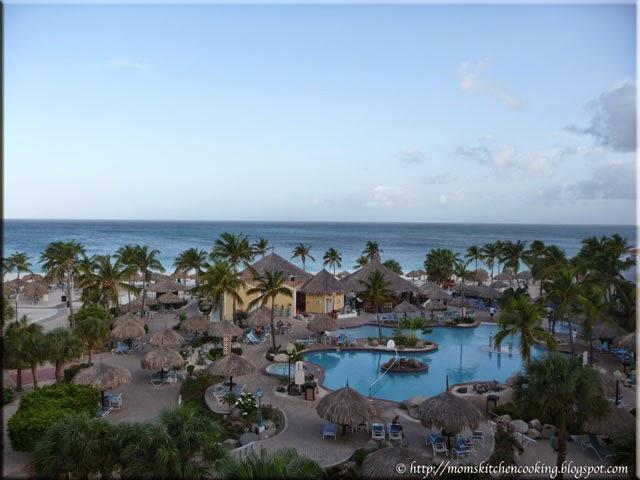 view from our condo balcony in Aruba