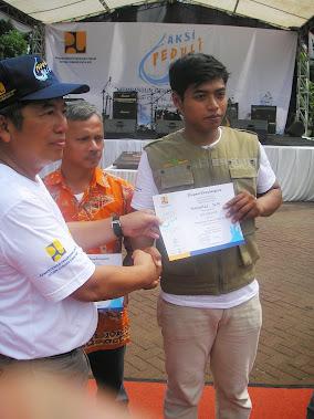 Mendaptkan piagam penghargaan dari Kementrian Pekerjaan Umum Direktorat jenderal Sumber Daya Air
