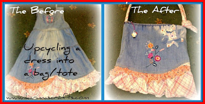 upcycle dress tote