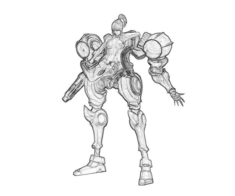 samus aran character coloring pages