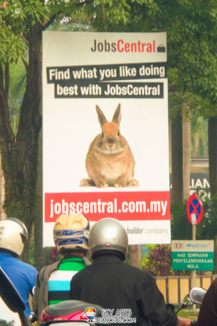 Funny advertisement board captured using zoom lens on S4 Zoom