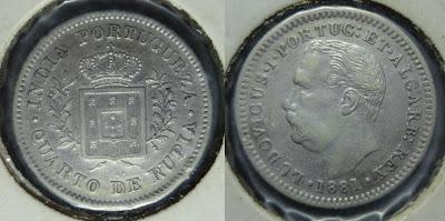 ludovicus quarto rupia 1881