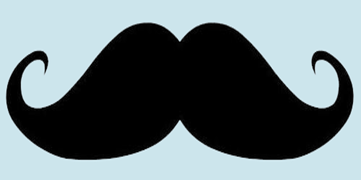 Zany image within mustache template printable
