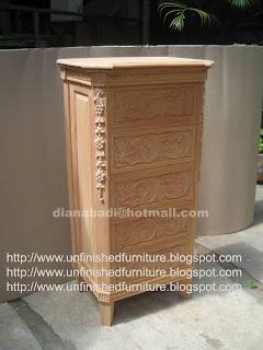 klasik furniture nakas bedside chest mahoni sajonia mentah supplier wooden chest klasik unfinished supplier nakas klasik jepara
