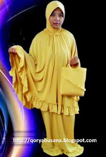 Mukena Spandek Salur Kuning Emas