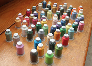 63 Brother Embroidery Thread Colors.