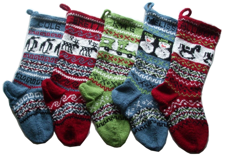Gigi82Knits: 5 Christmas Stockings: The snowman, the rocking horse ...