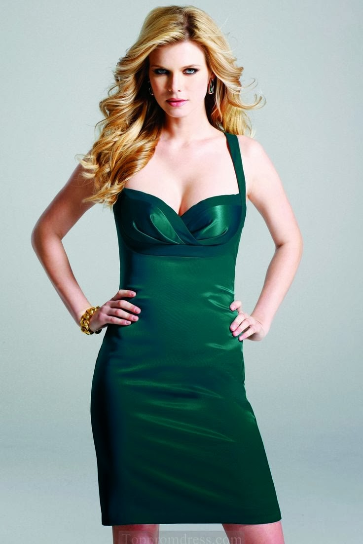Dark green sexy dress