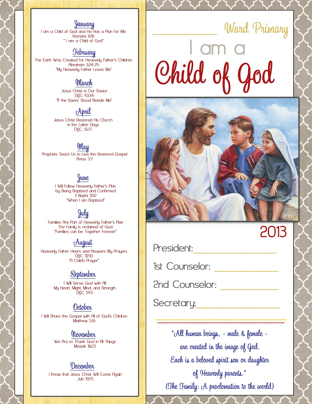 2013 lds primary program invitations just b cause for Idea door primary 2014