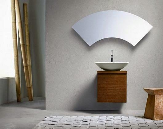 kaca kamar mandi, cermin minimalis, desain unik