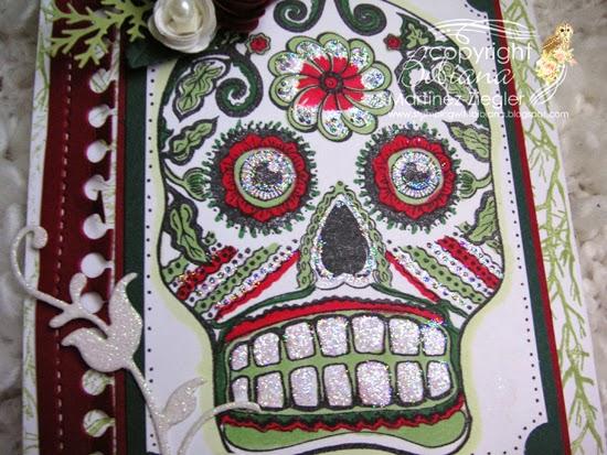 sugar skull card detail