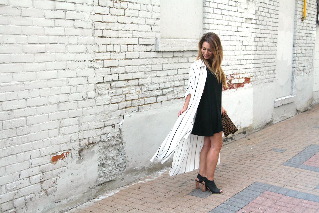 OOTD - Short Skirt and A Long Jacket | La Petite Noob | A Toronto