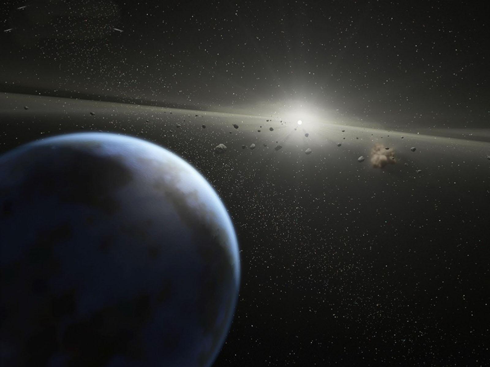 wallpapers: Asteroid Belt In Orbit