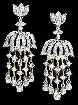 Diamond ear rings latest models