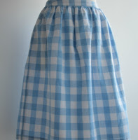 Selbstgenähter Vichykaro-Kleid