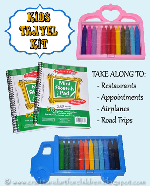 Fun DIY Travel Kit for kids -take to restaurants, road trips, airplanes, etc.