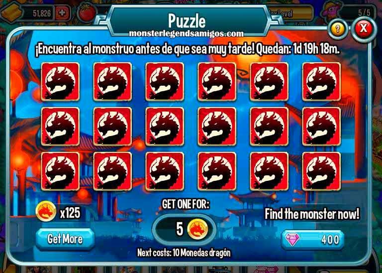 imagen del segundo puzle de la isla china de monster legends