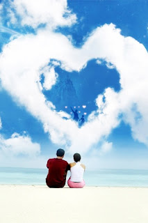 Heart Shaped Cloud Love Wallpaper