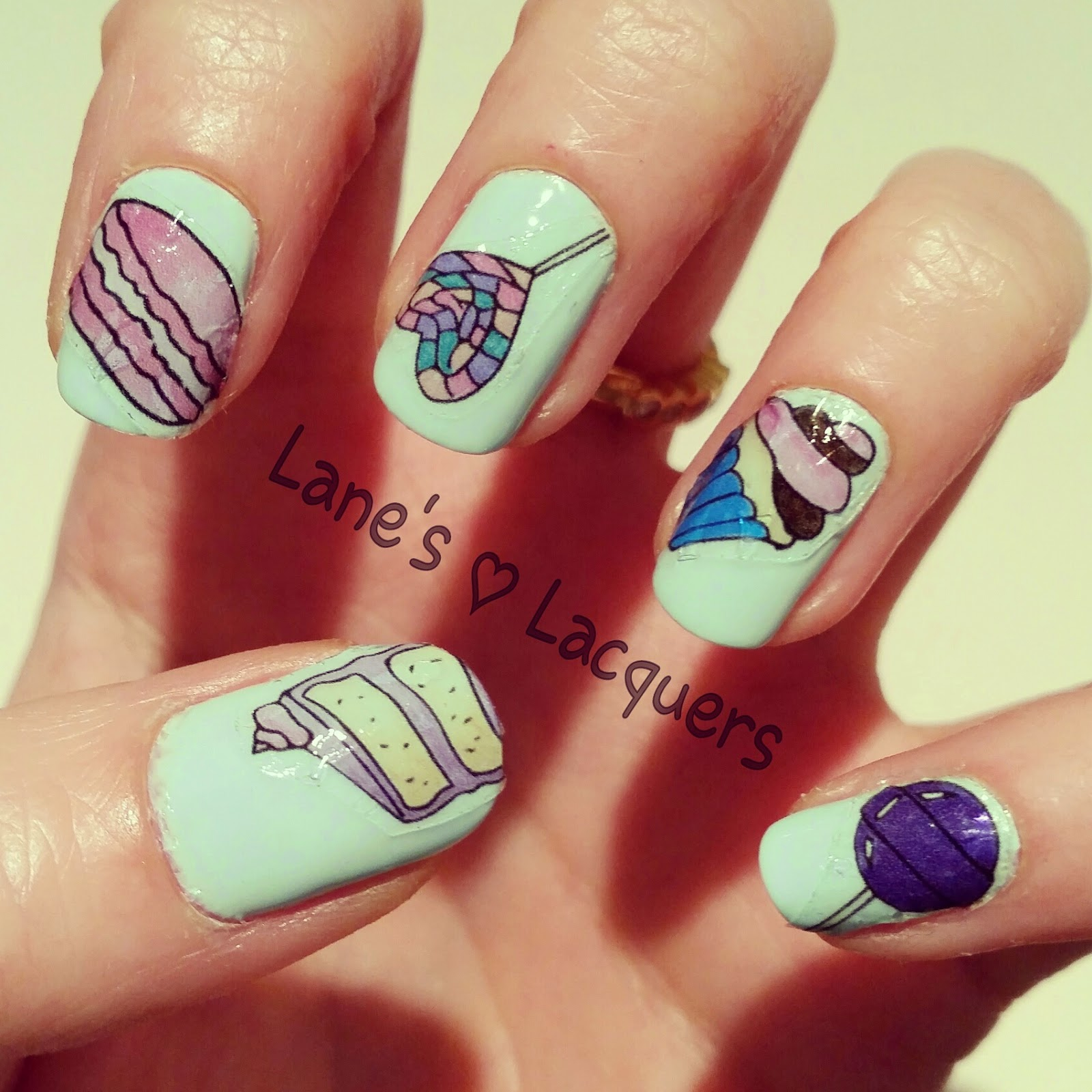 nail-doodles-sweets-cakes-water-transfer-nail-art