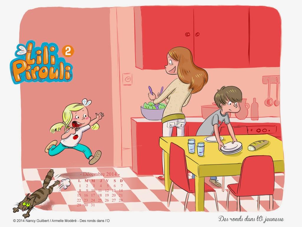 Fond d'écran décembre 2014 #2 : Lili Pirouli, T2 - Demain je serai présidente ! de Nancy Guilbert et Armelle Modéré / Jeunesse